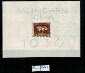 Deutschland Reich TR02 DR Mi Block 4 1940 Reich Postfrisch ** MNH