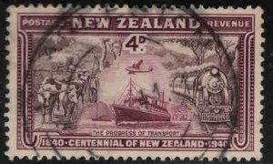 New Zealand Scott 225 Used 1940 Transportation stamp, nice cancel