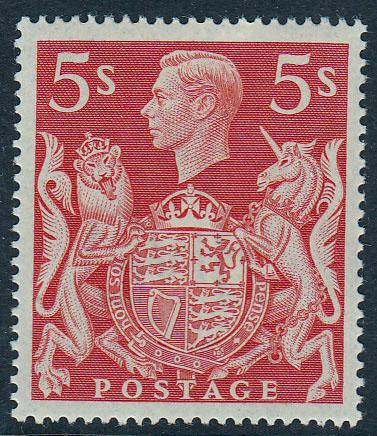 GB KGVI 5s Red SG477 Lightly Hinged Mint