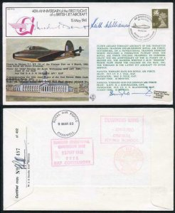 FF30d 1st Flight British Jet Aircraft McDonald Daunt and Williamson Signed