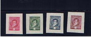 ARGENTINA 1892 COLOUR TRIALS