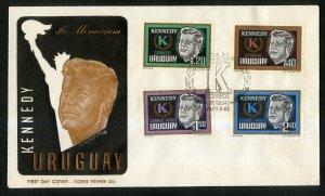 URUGUAY COVER  IN MEMEMORIUM OF JFK BIN $4.50