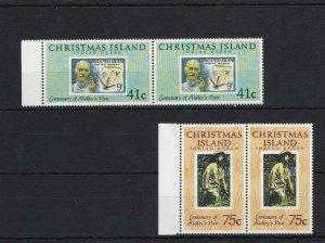 CI58) Christmas Island 1990 Centenary of Henry Ridley's Visit MUH pairs