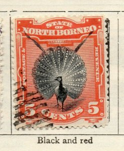 North Borneo 1894 Early Issue Fine Used 5c. NW-113865