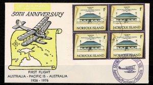 Norfolk Island  1976 First Flight Australia to Pacific Island  FDC