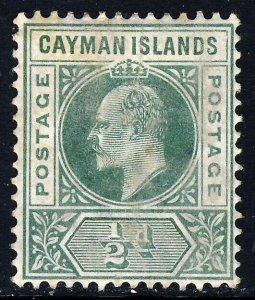 CAYMAN ISLANDS King Edward VII 1902 Half Penny Green Wmk Crown CA SG 3 MINT