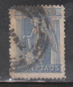 GREECE Scott # 204 Used - Iris Holding Caduceus
