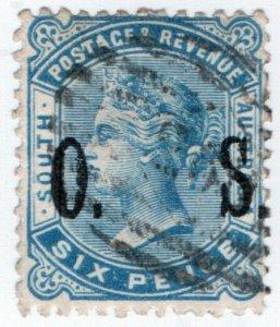 (I.B) Australia Postal : South Australia 6d Official Service (SG O85)