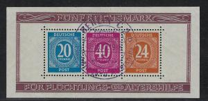 Germany AM Post Scott # B294, used, s/s, special cancellation