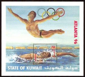Kuwait 1996 Scott #1336a Souvenir Sheet Mint Never Hinged