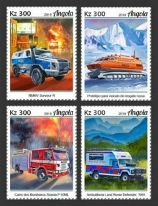 Angola - 2019 Special Transport Vehicles - Set of 4 Stamps - ANG190122a