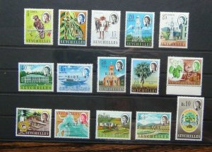 BIOT 1968 set to 10R SG1 - SG15 MNH