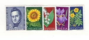 Switzerland, B308-B312, Various Designs Singles, MNH
