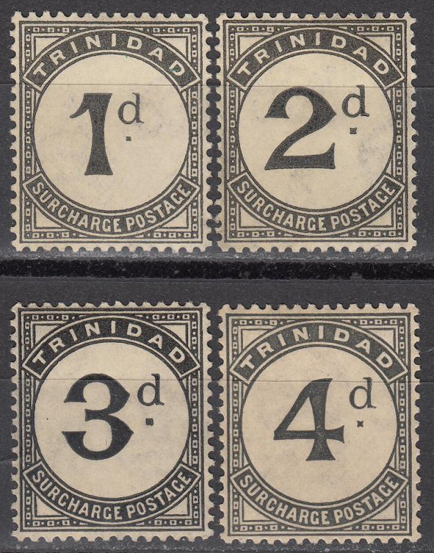 Trinidad - 1906/1907 - Postage Due stamp lot - MH/MLH (5538)