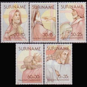 SURINAM 1981 - Scott# B279-83 Easter Set of 5 NH
