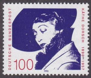 Germany # 1616, Kathe Dorsch, Actress,  Unused - No Gum