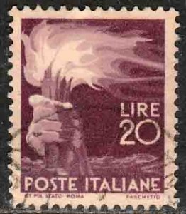 Italy 474, 20L Torch..Used. F-VF. (400)