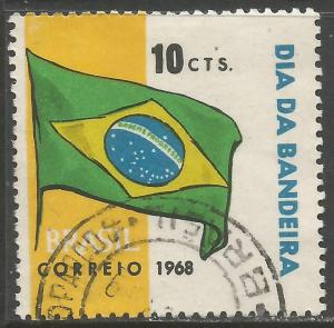 BRAZIL 1107 VFU FLAG W329-1