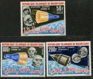 MAURITANIA Sc#C48-C50 1966 Space Achievements Complete Mint OG LH