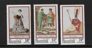 FRENCH POLYNESIA #419-21 TRADITIONAL COSTUMES  MNH
