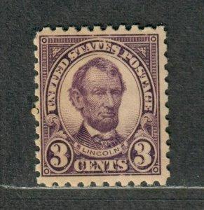 US Sc#584 M/NH/F, Cv. $60