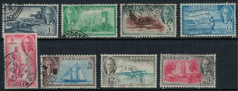 Barbados #216-23  CV $21.55