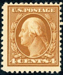 #503 – 1917 4c Washington, brown.  MNH OG.