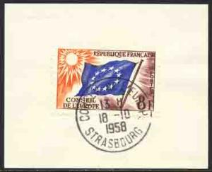 France 1958 Sc 1O2 Conseil De L'Europe Strasbourg Stamp Used