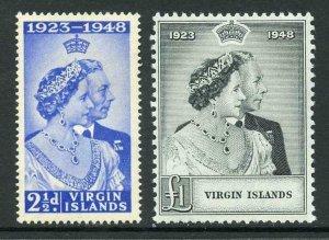 British Virgin Is 1948 Royal Silver Wedding SG124/5 U/M (low value M/M
