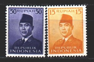 Indonesia. 1953. 114-17 from the series. Soekarno, President. MNH.
