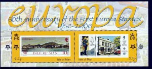 Isle of Man --2006 -FIRST EUROPA  50th Anniversary  MNH S/Sheet   # 1144