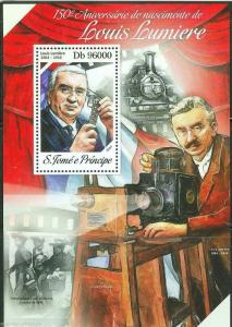SAO TOME 2014 150th BIRTH ANNIVERSARY OF LOUIS LUMIERE  S/SHEET MINT NH