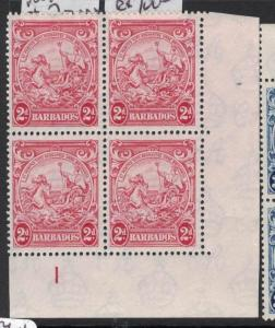 Barbados SG 250d Plate 1 Block of Four, Three Stamps MNH (8dsa)