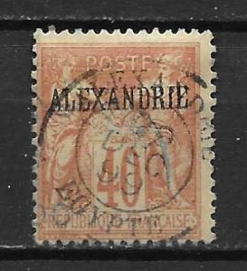 France Offices in Egypt - Alexandria 11 40c Commerece single Used