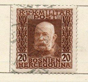 Bosnia Herzegovina 1912 Early Issue Fine Used 20h. NW-113581