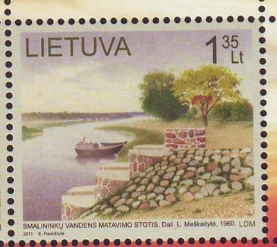 Lithuania Sc 944 2011 Water Measuring stamp  mint NH