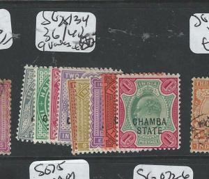 INDIA CHAMBA (PP0804B) KE SG 25/34, 36/42   9 VALUES  MOG