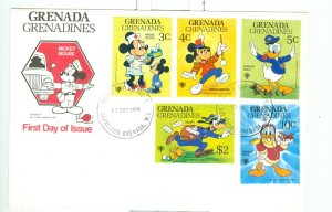 GRENADA-GRENADINES 1979 DISNEY DAY OF ISSUE COVER