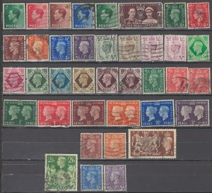 COLLECTION LOT OF #1082 GREAT BRITAIN 38 STAMPS 1936+ CV + $36