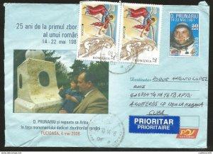 J) 2015 ROMANIA, ANGELS, SPACE, ASTRONAUT, D. PRUNARIU AND I NEPOSA TO ARINA IN