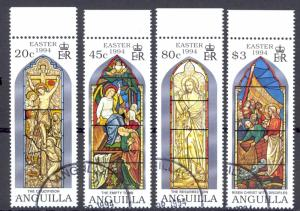 Anguilla Sc# 909-912 SG# 945/948 Used 1994 Easter