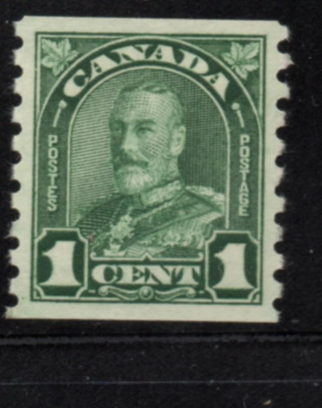 Canada Sc 179 1930 1c green GV coil stamp mint NH