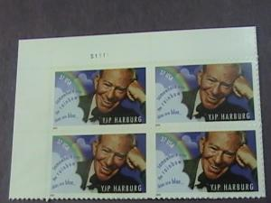 U.S.# 3905(-MINT/NEVER HINGED UL PLATE# BLOCK OF 4---EDGAR (YIP) HARBURG---2005