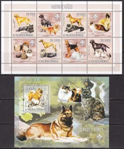 Sao Tome and Principe, Fauna, Animals, Dogs, Cats MNH / 2006