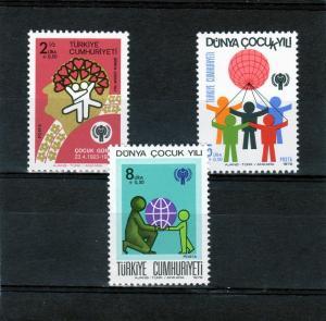 Turkey 1979 Year of the Child Set (3) MNH Sc# B166/168