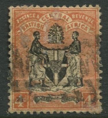 British Central Africa - Scott 23 - Definitive -1895 - Used - Single 4p Stamp