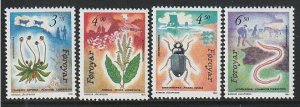 1991 Faroe Islands - Sc 216-9 - MNH VF - 4 single - Flora and Fauna