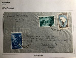 1939 Buenos Aires Argentina Universal Postal Congress Cover To Bern Switzerland