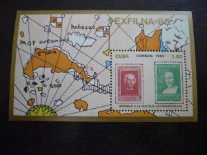 Stamps - Cuba - Scott# 2818 - Souvenir Sheet