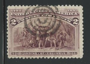 United States Scott #231 2¢ Columbian Issue Used Stamp